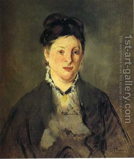 Portrait of Madame Manet by Edouard Manet - Reproduction Oil Painting