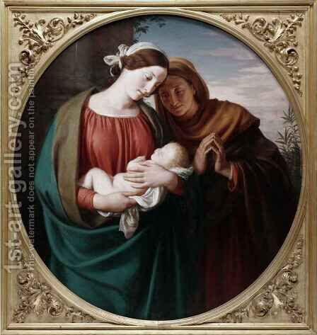 Madonna and Child by Adolph Friedrich George Wichman - Reproduction Oil Painting