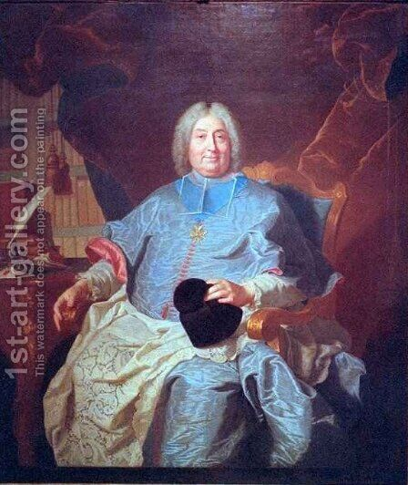 Chas Gaspard Guillaume de Vintimille du Luc Archbishop of Paris by Hyacinthe Rigaud - Reproduction Oil Painting