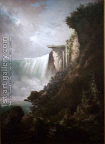 The Niagara River at the Cataract by Gustavus Grunewald - Reproduction Oil Painting