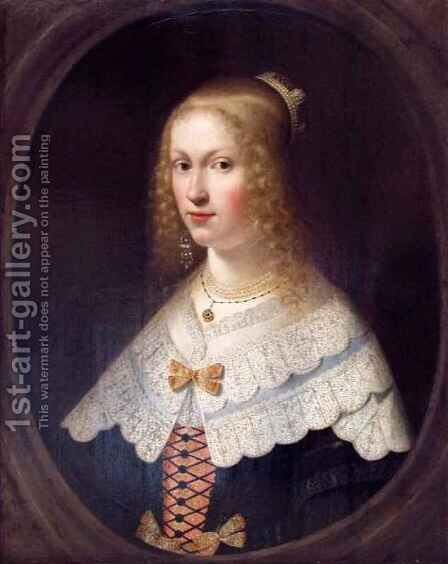 Portrait of a Lady by Hendrick Coster - Reproduction Oil Painting