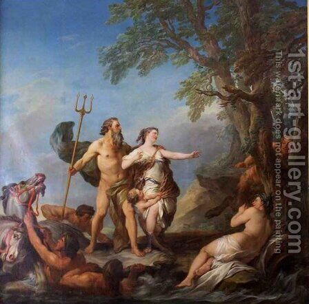 Neptune and Amymone by Charles-André van Loo - Reproduction Oil Painting