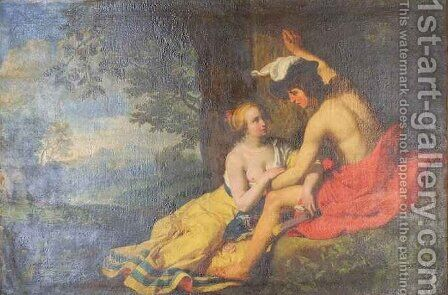 Angelique and Medor by Abraham Bloemaert - Reproduction Oil Painting