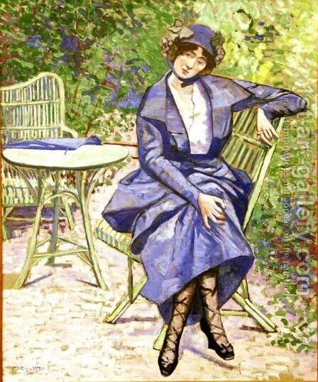 La Robe Bleue by Agutte Georgette - Reproduction Oil Painting