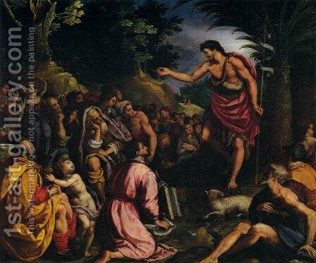 The Preaching of St John the Baptist by Alessandro Allori - Reproduction Oil Painting