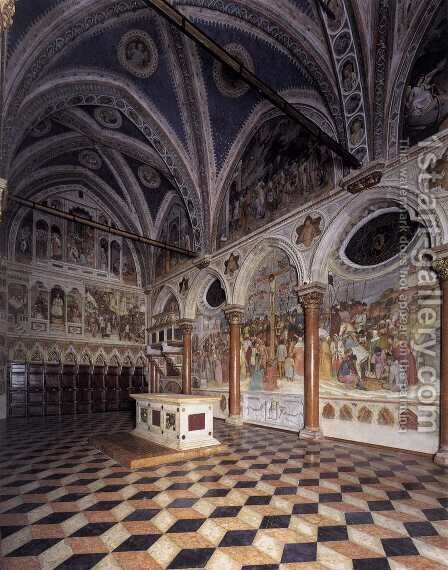 View of the Cappella di San Giacomo by Altichiero da Zevio - Reproduction Oil Painting