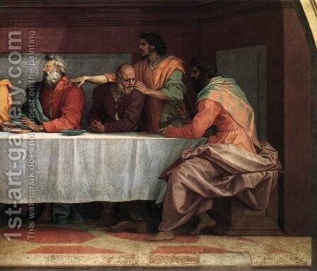 The Last Supper (detail) by Andrea Del Sarto - Reproduction Oil Painting