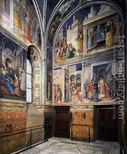 View of the chapel by Angelico Fra - Reproduction Oil Painting