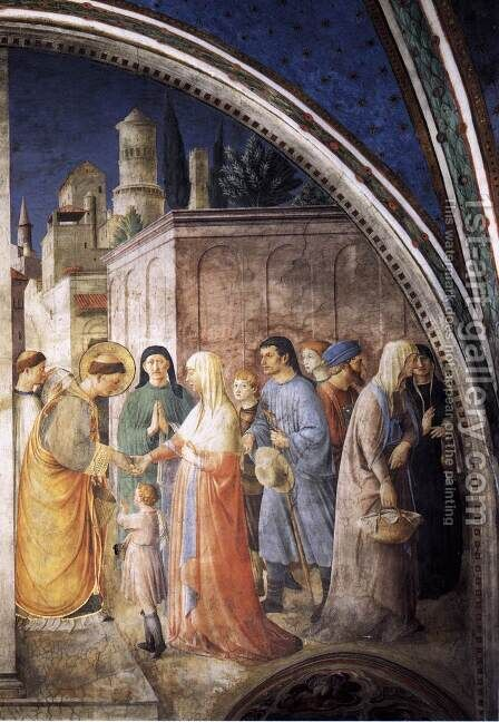 St Stephen Distributing Alms by Angelico Fra - Reproduction Oil Painting