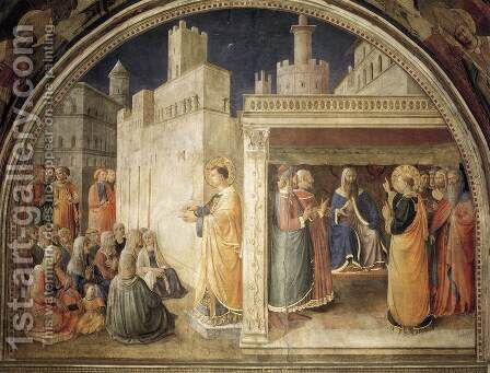 Lunette of the north wall by Angelico Fra - Reproduction Oil Painting