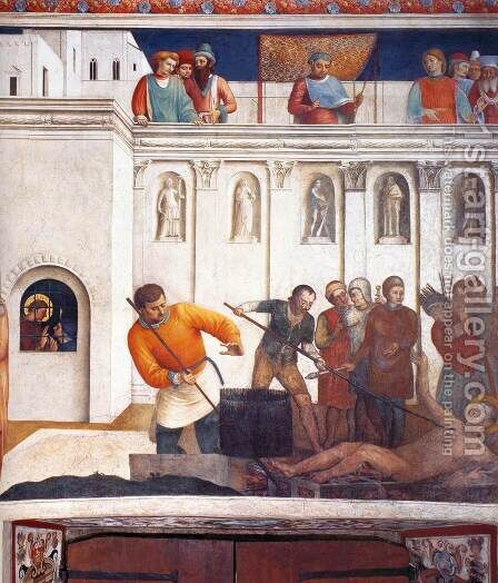 Martyrdom of St Lawrence by Angelico Fra - Reproduction Oil Painting