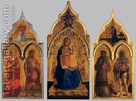 Compagnia di San Francesco Altarpiece by Angelico Fra - Reproduction Oil Painting