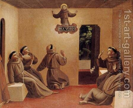Apparition of St Francis at Arles by Angelico Fra - Reproduction Oil Painting