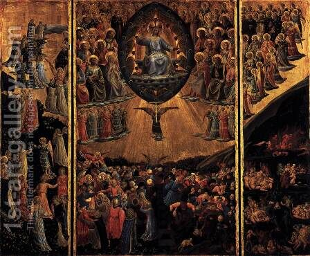 Triptych The Last Judgment by Angelico Fra - Reproduction Oil Painting