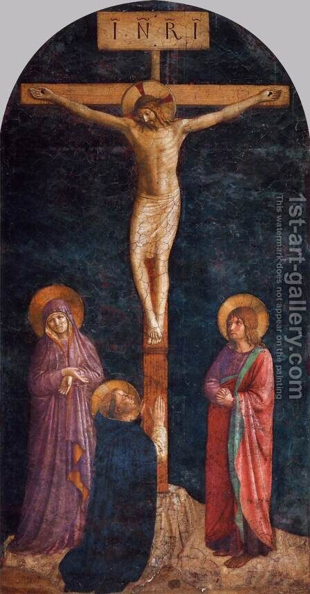 Crucifixion with St Dominic by Angelico Fra - Reproduction Oil Painting