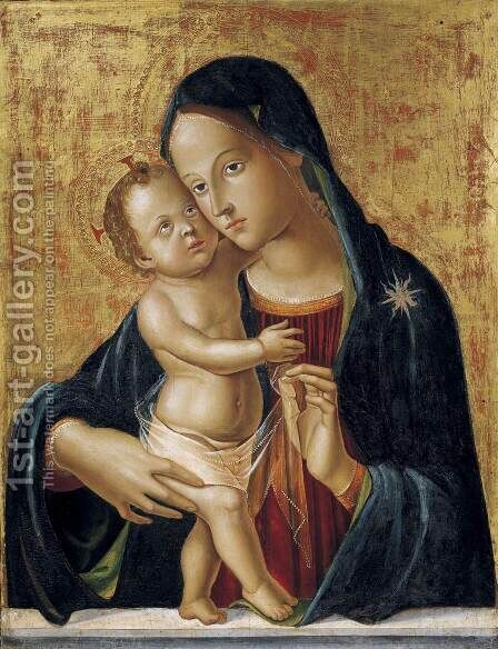 Madonna and Child by Antoniazzo Romano - Reproduction Oil Painting