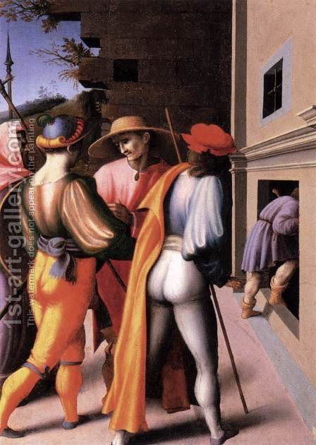 Scenes from the Story of Joseph The Arrest of His Brethren by (circle of) Ubertini, (Bacchiacca) - Reproduction Oil Painting