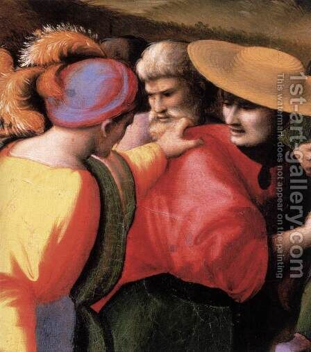 Scenes from the Story of Joseph The Discovery of the Stolen Cup (detail) by (circle of) Ubertini, (Bacchiacca) - Reproduction Oil Painting