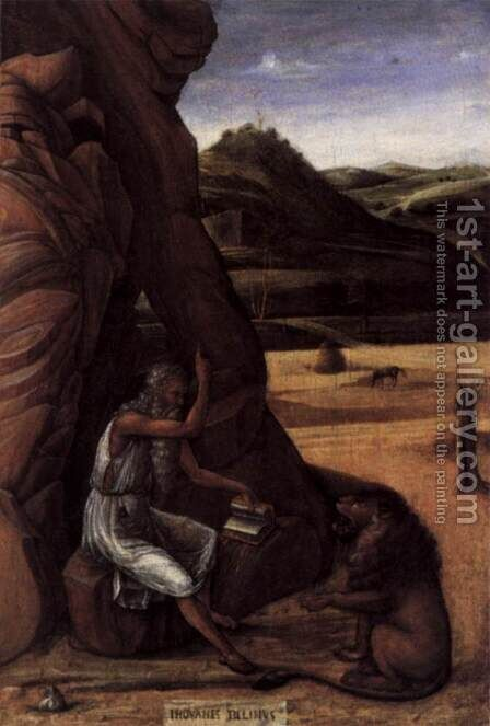 St Jerome in the Desert by Giovanni Bellini - Reproduction Oil Painting