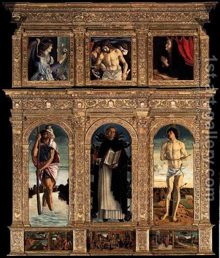 Polyptych of San Vincenzo Ferreri 2 by Giovanni Bellini - Reproduction Oil Painting
