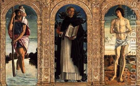 Polyptych of San Vincenzo Ferreri (detail) 2 by Giovanni Bellini - Reproduction Oil Painting