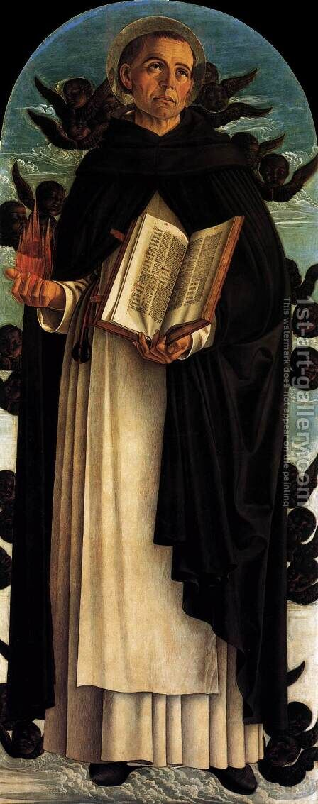 Polyptych of San Vincenzo Ferreri (central panel) by Giovanni Bellini - Reproduction Oil Painting