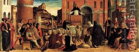 Polyptych of San Vincenzo Ferreri (predella) 2 by Giovanni Bellini - Reproduction Oil Painting