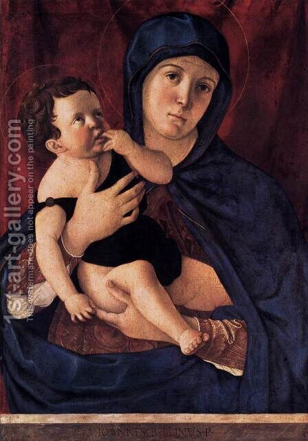 Madonna and Child 3 by Giovanni Bellini - Reproduction Oil Painting