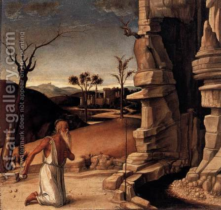 Pesaro Altarpiece (predella) 3 by Giovanni Bellini - Reproduction Oil Painting