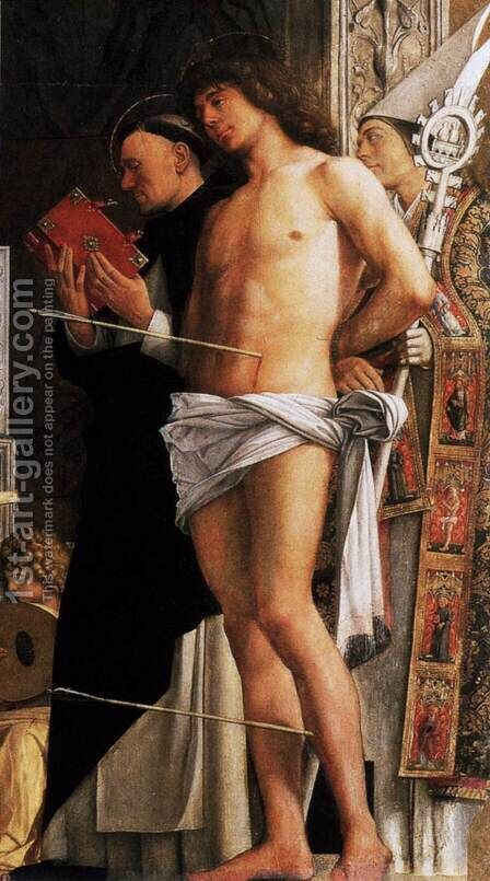 San Giobbe Altarpiece (detail) 2 by Giovanni Bellini - Reproduction Oil Painting