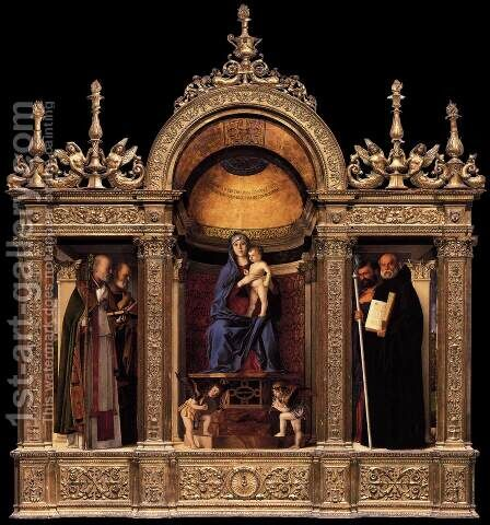 Frari Triptych by Giovanni Bellini - Reproduction Oil Painting