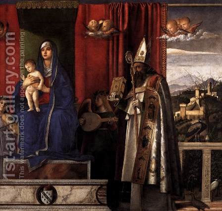 Barbarigo Altarpiece (detail) 2 by Giovanni Bellini - Reproduction Oil Painting