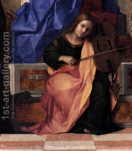 San Zaccaria Altarpiece (detail) 3 by Giovanni Bellini - Reproduction Oil Painting