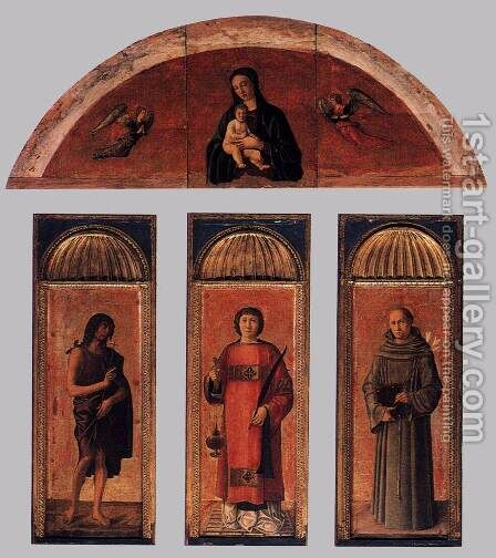 Triptych of St Lawrence by Jacopo Bellini - Reproduction Oil Painting