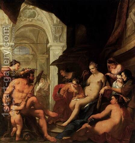 Hercules in the Palace of Omphale by Antonio Bellucci - Reproduction Oil Painting