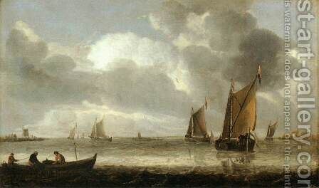 The Silver Seascape by Abraham Hendrickz Van Beyeren - Reproduction Oil Painting