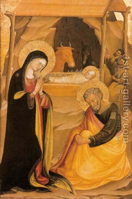 The Nativity by Bicci Di Lorenzo - Reproduction Oil Painting