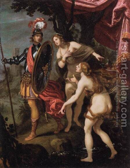 The Temptation of Charles and Ubalde by Giovanni Bilivert - Reproduction Oil Painting