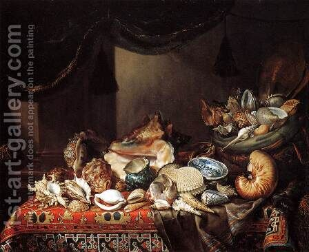 Shells by Bartolommeo Bimbi - Reproduction Oil Painting