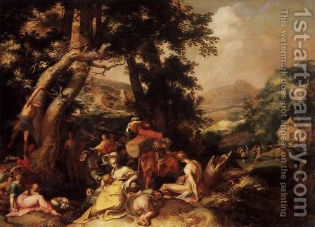 The Preaching of St John the Baptist by Abraham Bloemaert - Reproduction Oil Painting