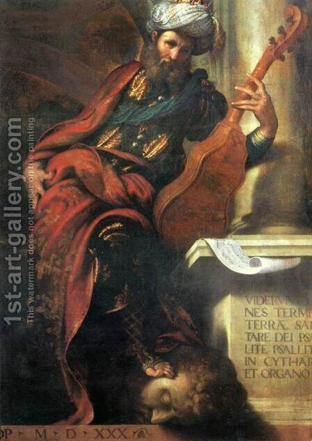 The Prophet David 2 by Camillo Boccaccino - Reproduction Oil Painting