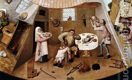 The Seven Deadly Sins (detail) 2 by Hieronymous Bosch - Reproduction Oil Painting