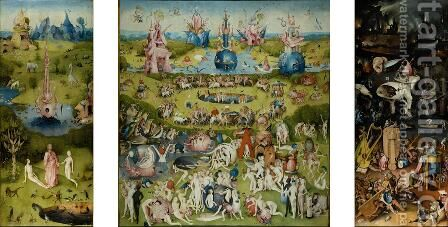 Triptych of Garden of Earthly Delights 2 by Hieronymous Bosch - Reproduction Oil Painting