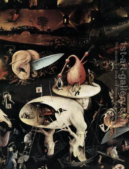 Triptych of Garden of Earthly Delights (detail) 4 by Hieronymous Bosch - Reproduction Oil Painting