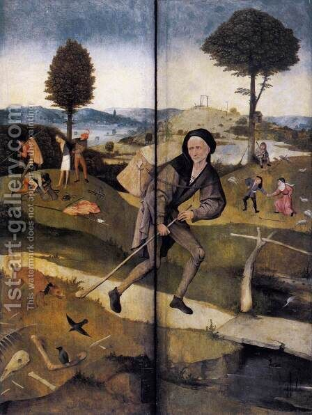 Triptych of Haywain (outer wings) by Hieronymous Bosch - Reproduction Oil Painting