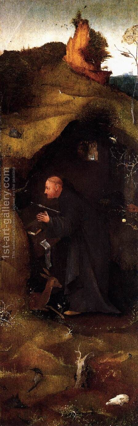 Hermit Saints Triptych (right panel) 2 by Hieronymous Bosch - Reproduction Oil Painting