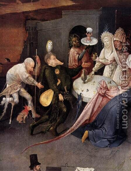 Triptych of Temptation of St Anthony (detail) 4 by Hieronymous Bosch - Reproduction Oil Painting