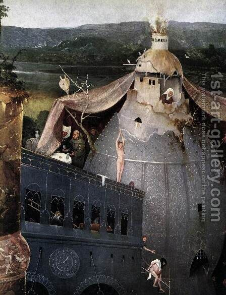 Triptych of Temptation of St Anthony (detail) 6 by Hieronymous Bosch - Reproduction Oil Painting