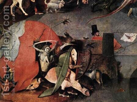 Triptych of Temptation of St Anthony (detail) 7 by Hieronymous Bosch - Reproduction Oil Painting