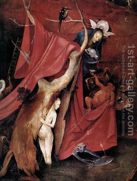 Triptych of Temptation of St Anthony (detail) 13 by Hieronymous Bosch - Reproduction Oil Painting
